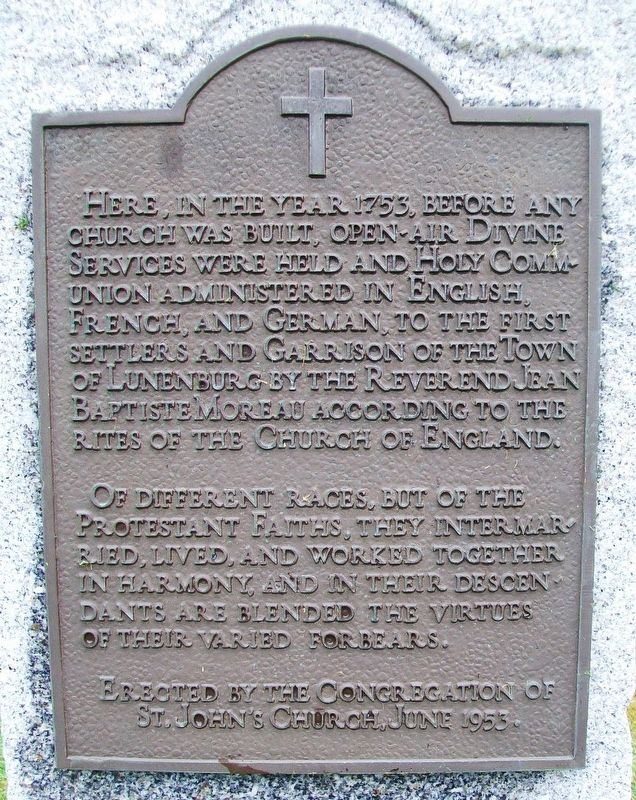 1753 Open-Air Protestant Interfaith Church Services Marker image. Click for full size.