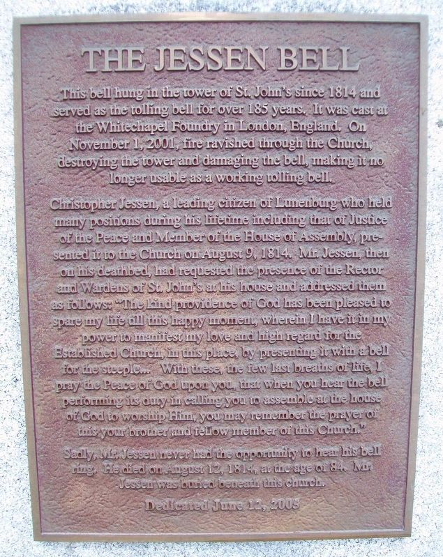 The Jessen Bell Marker image. Click for full size.