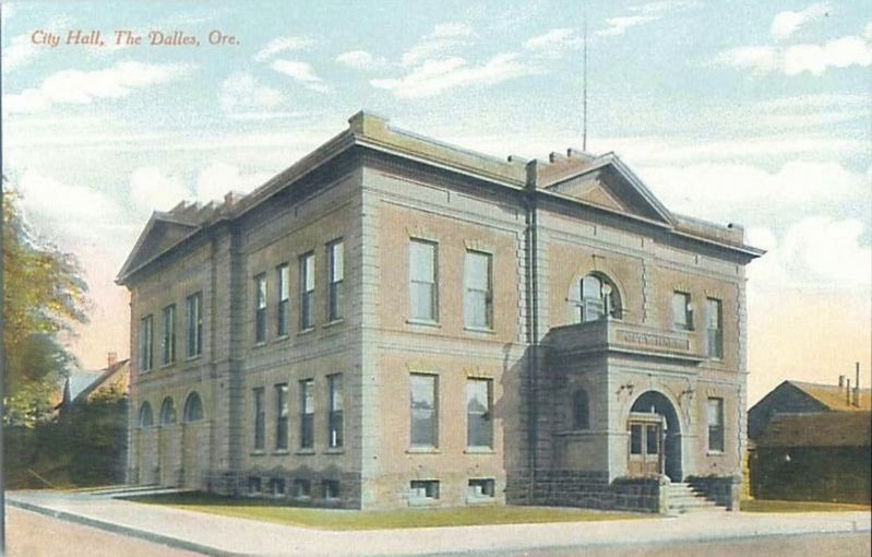 <i>City Hall, The Dalles, Ore.</i> image. Click for full size.