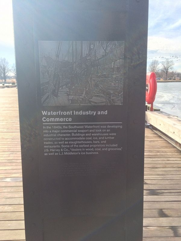 Waterfront Industry and Commerce Marker image. Click for full size.