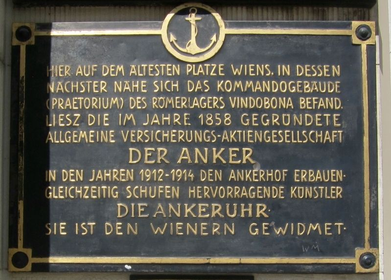 Die Ankeruhr / The Anchor Clock Marker image. Click for full size.