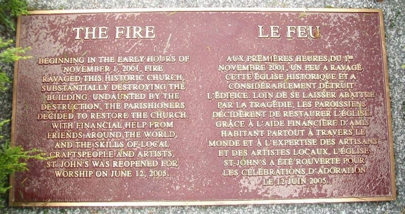 The Fire / Le Feu Marker image. Click for full size.