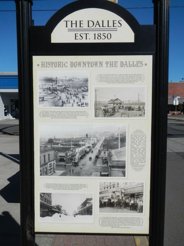 Historic Downtown The Dalles Marker image. Click for full size.