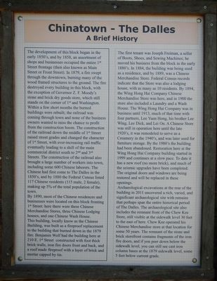 Chinatown - The Dalles Marker image. Click for full size.