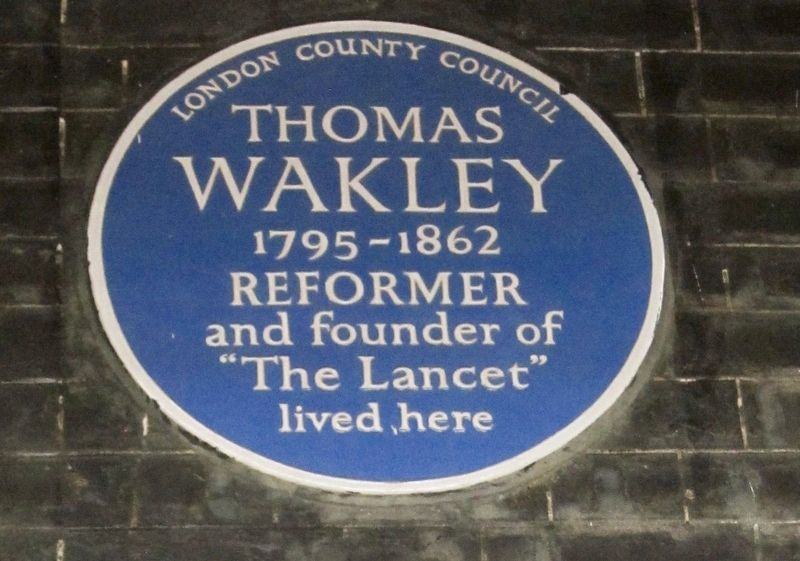 Thomas Wakley Marker image. Click for full size.
