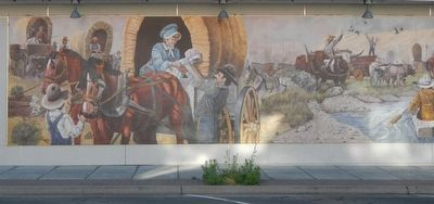 Decision at The Dalles Mural, left half image. Click for full size.