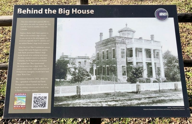 Behind the Big House Marker image. Click for full size.