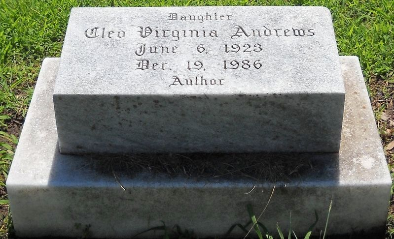 Detail of V. C. Andrews' headstone. image. Click for full size.