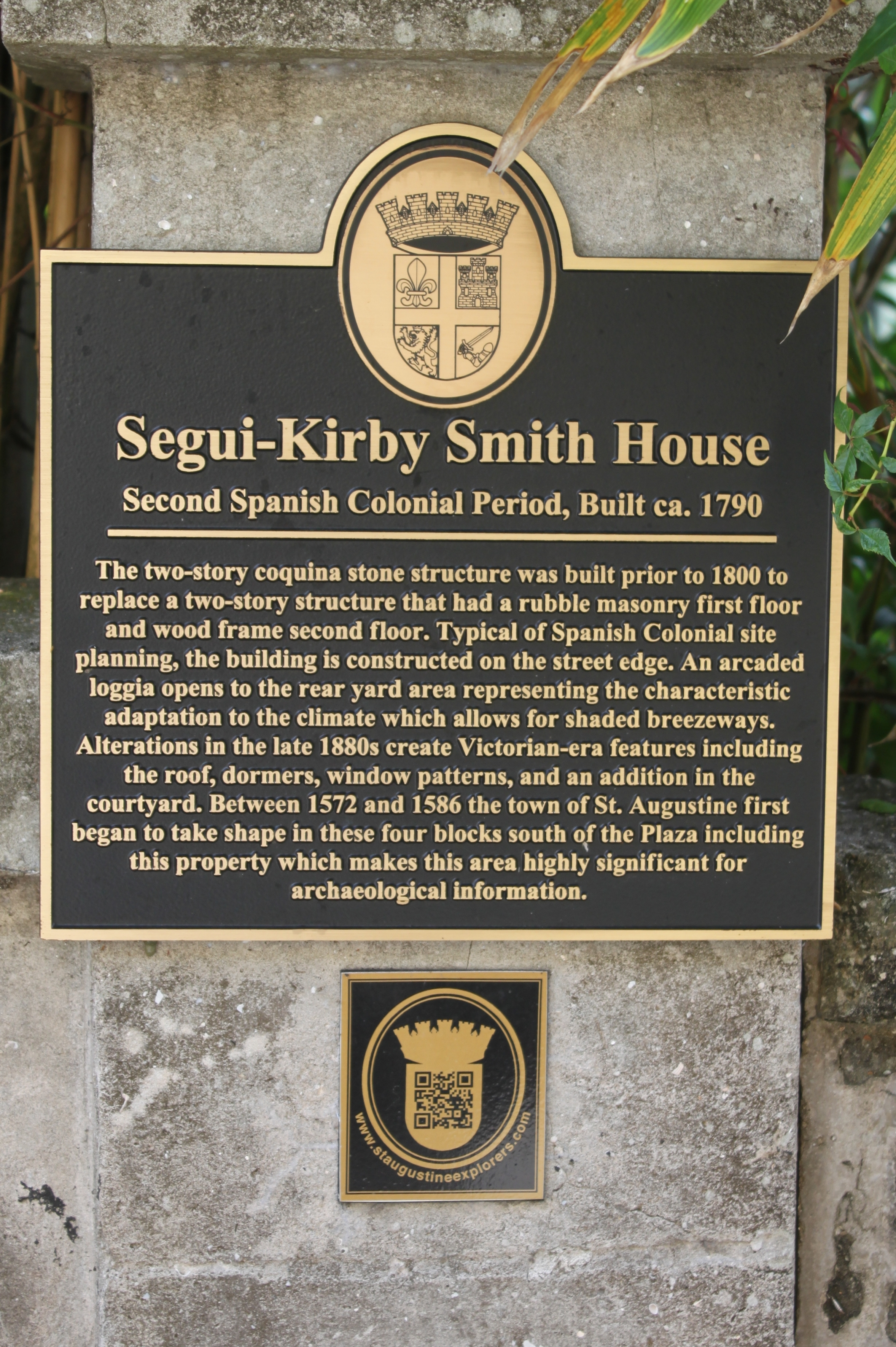 Segui-Kirby Smith House Marker