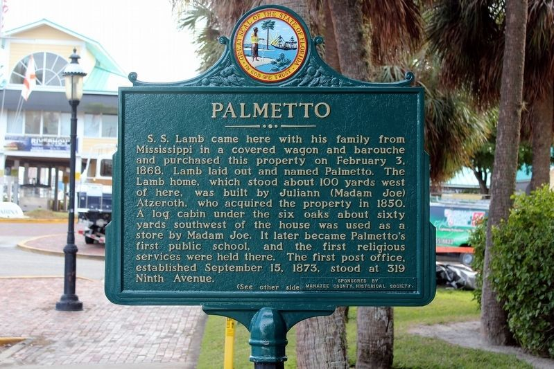 Palmetto Marker-Side 1 image. Click for full size.