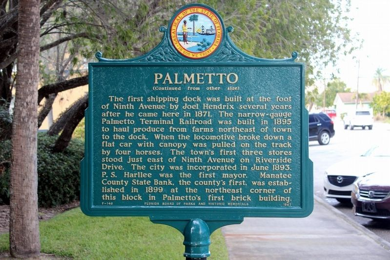 Palmetto Marker-Side 2 image. Click for full size.