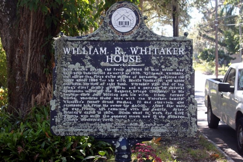 William R. Whitaker House side of marker image. Click for full size.