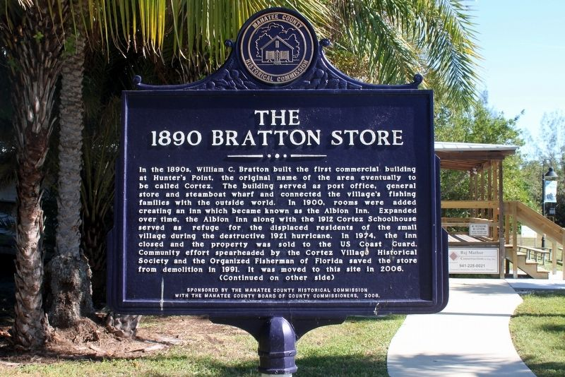 The 1890 Bratton Store side of marker image. Click for full size.