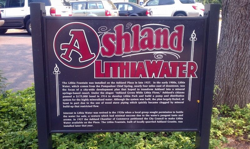 Ashland Lithia Water Marker image. Click for full size.