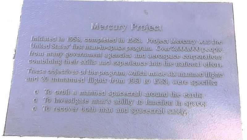 Mercury Project Marker image. Click for full size.