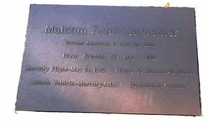 Malcom Scott Carpenter Marker image. Click for full size.