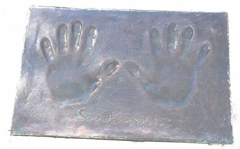 Malcom Scott Carpenter Handprints Marker image. Click for full size.