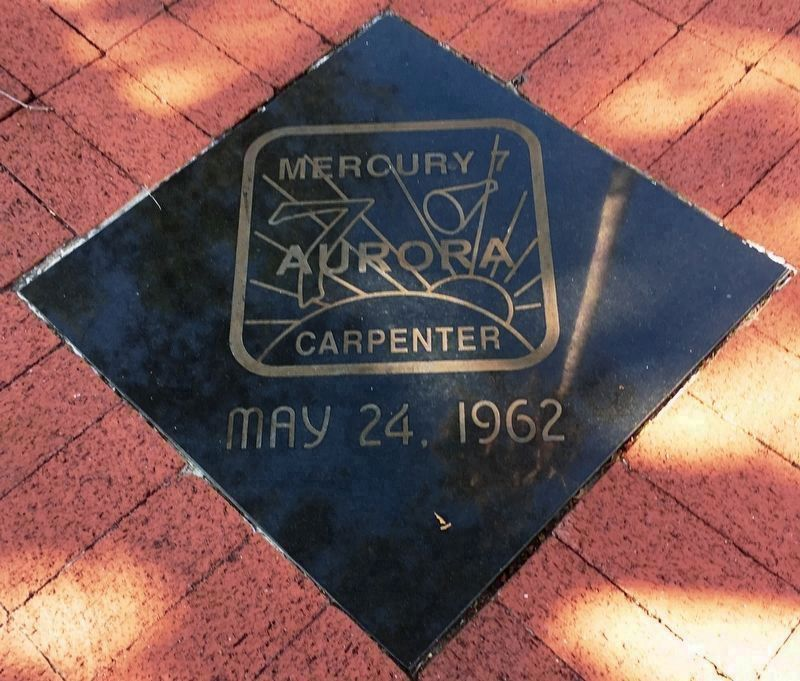 Mercury 7 Tile near the memorial image. Click for full size.
