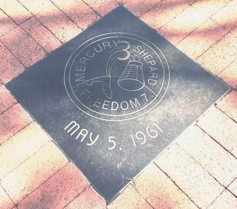 Mercury 3 Tile near the memorial image. Click for full size.