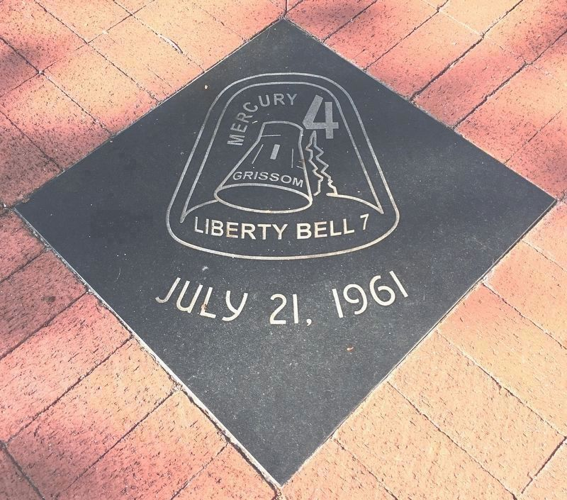 Mercury 4 Tile near the memorial image. Click for full size.