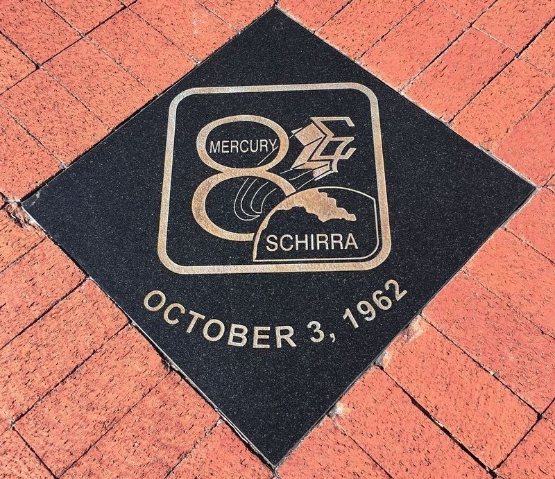 Mercury 8 Tile near the memorial image. Click for full size.