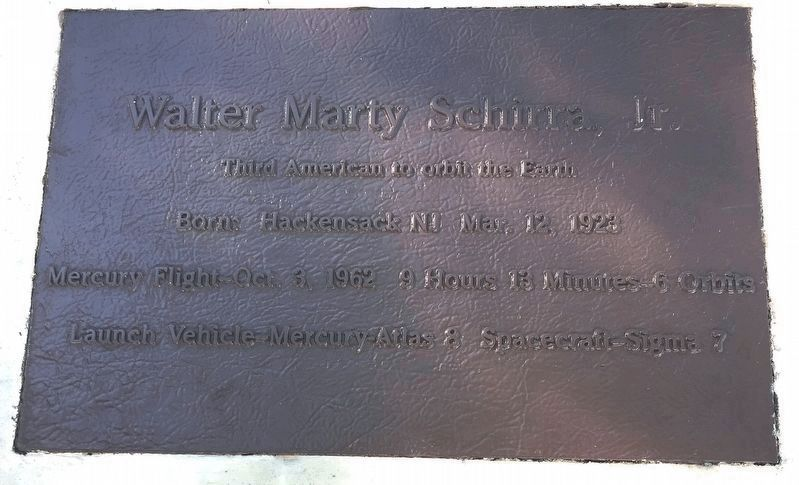 Walter Marty Schirra, Jr. Marker image. Click for full size.
