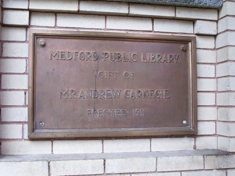 Medford Public Library Marker image. Click for full size.