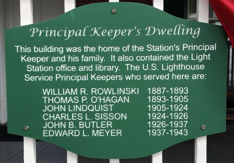 Principal Keeper's Dwelling Marker image. Click for full size.