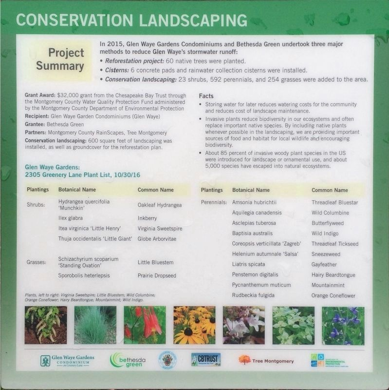 Conservation Landscaping Marker image. Click for full size.