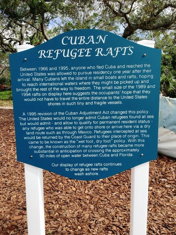 Cuban Refugee Rafts Marker image. Click for full size.