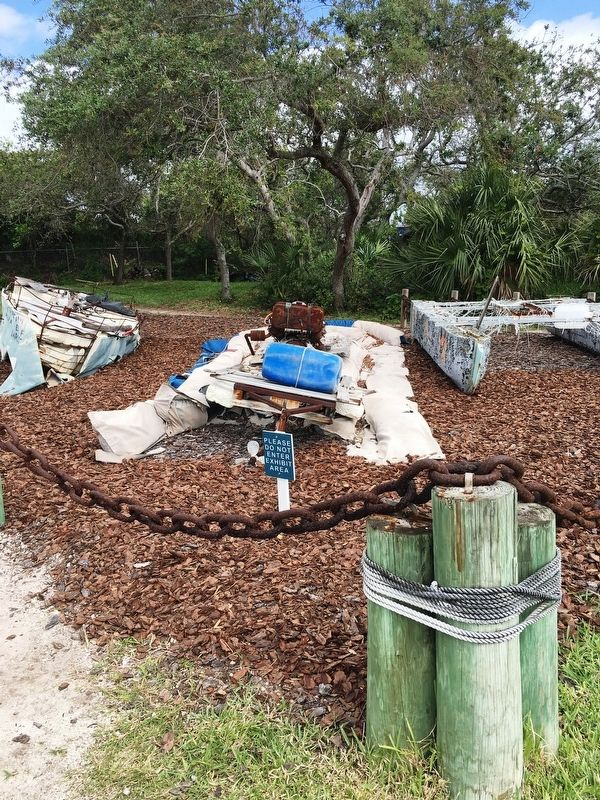 Cuban Refugee Raft remnants image. Click for full size.