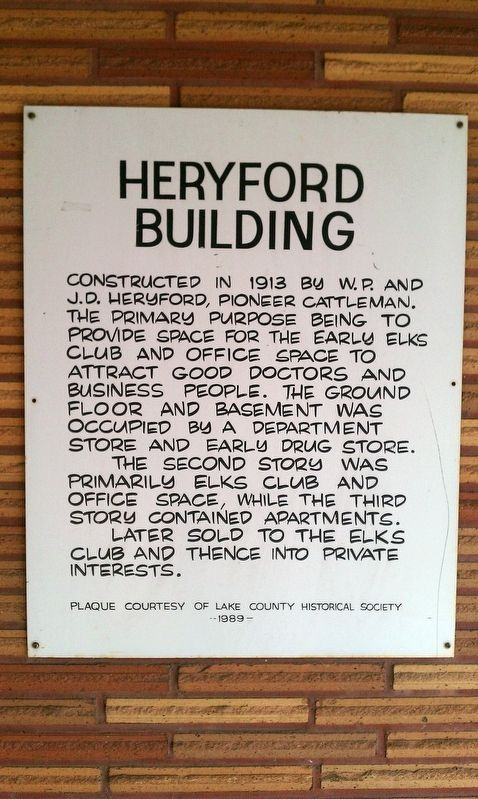 Heryford Building Marker image. Click for full size.