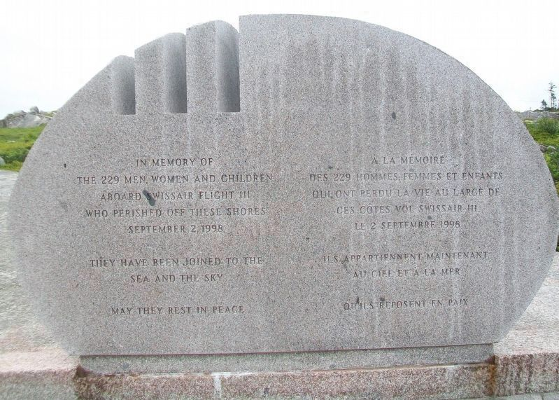 Swissair Flight 111 Memorial image. Click for full size.