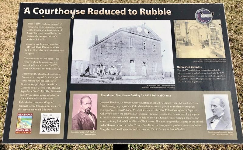 A Courthouse Reduced to Rubble Marker image. Click for full size.