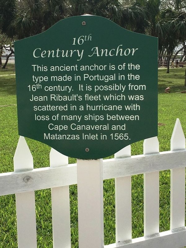 16th Century Anchor Marker image. Click for full size.