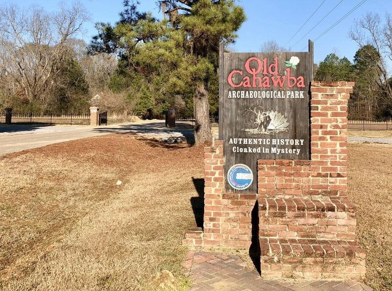 Entrance sign to the Cahawba Archaeological Park. image. Click for full size.