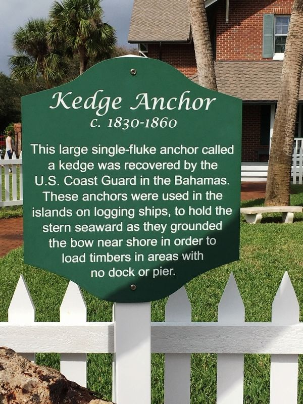 Kedge Anchor Marker image. Click for full size.
