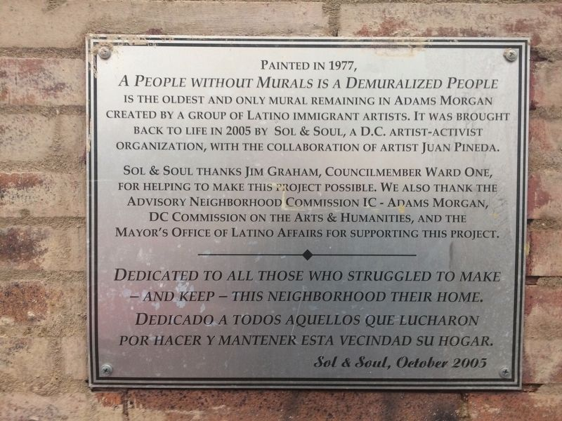 A People Without Murals Is A Demuralized People Marker image. Click for full size.