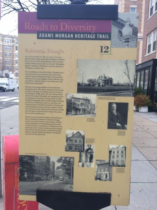 Kalorama Triangle Marker image. Click for full size.