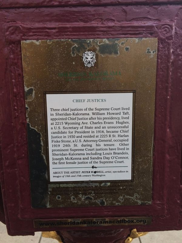 Chief Justices Marker image. Click for full size.