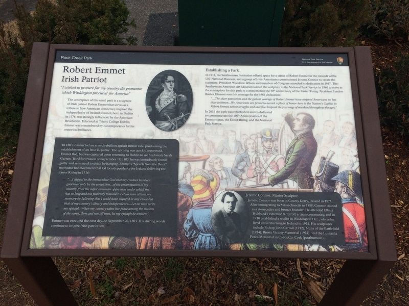 Robert Emmet: Irish Patriot Marker image. Click for full size.