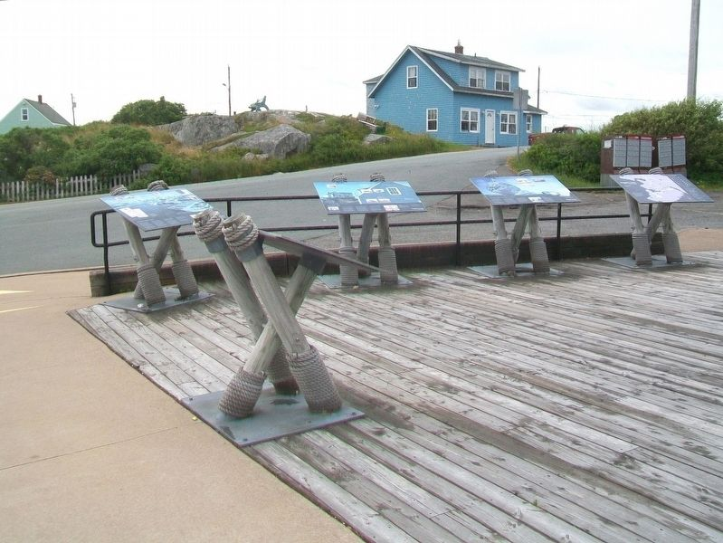 Peggy's Cove Markers at Visitor Information Centre image. Click for full size.