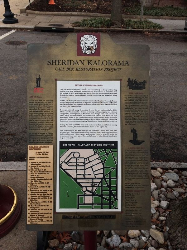 History of Sheridan-Kalorama Marker image. Click for full size.