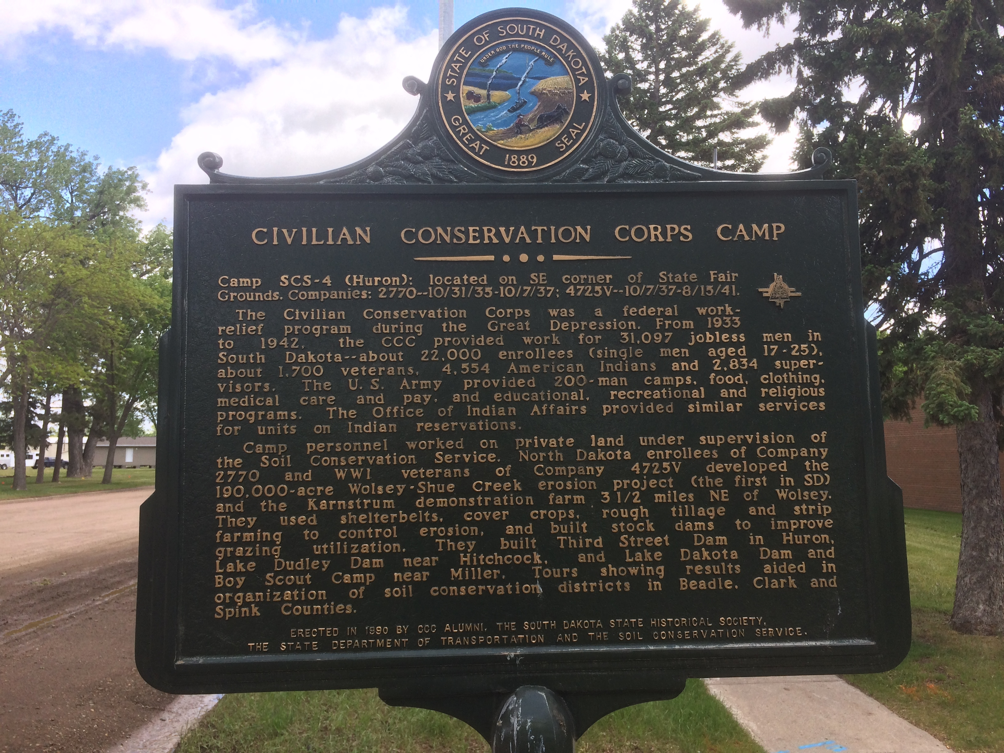 Civilian Conservation Corps Camp Marker