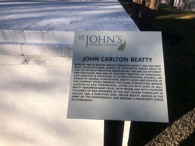 John Carlton Beatty Marker image. Click for full size.