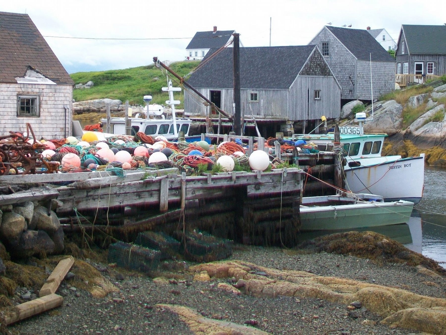 Peggy's Cove Fishing Boats and Sheds image. Click for full size.