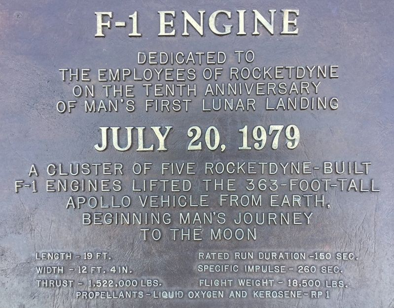 F-1 Engine Marker image. Click for full size.