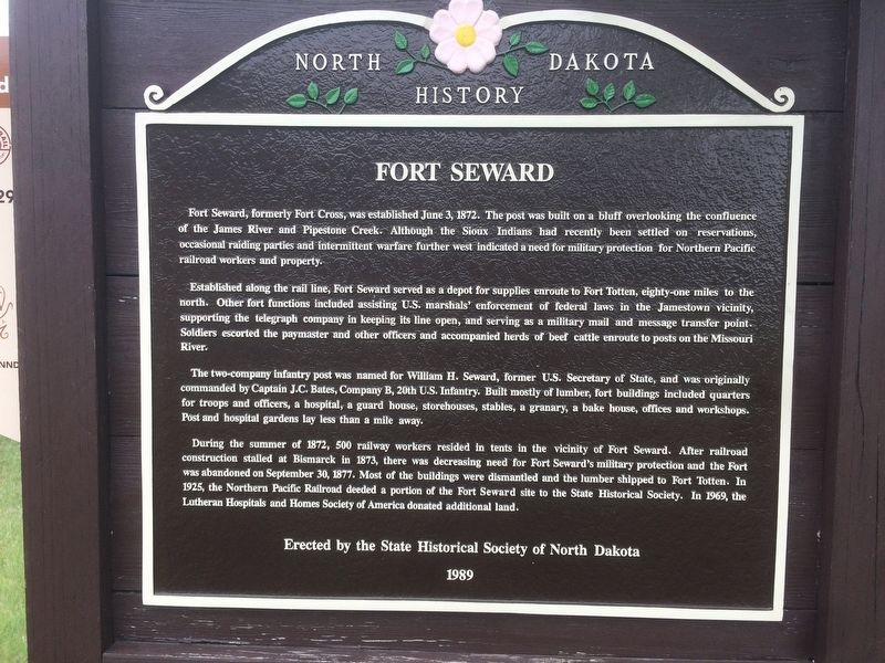 Fort Seward Marker image. Click for full size.