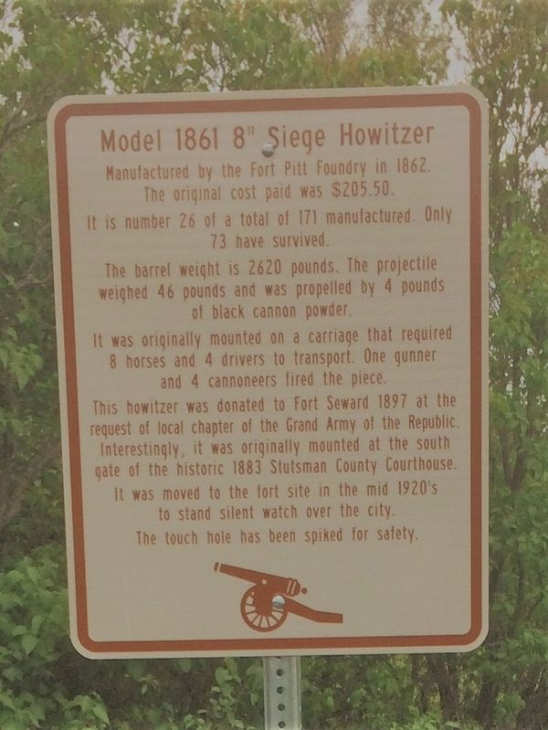 "Model 1861 8"" Siege Howitzer Marker image. Click for full size."