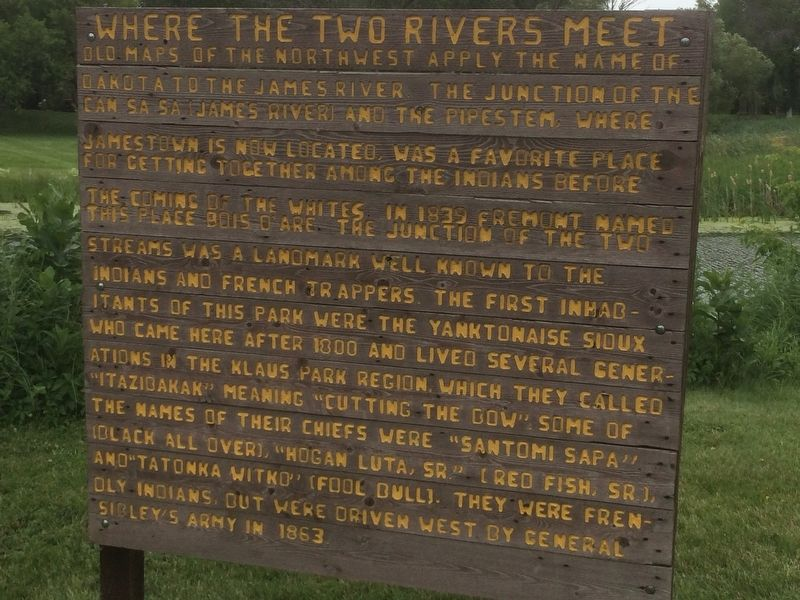 Where the two Rivers Meet Marker image. Click for full size.